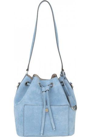 Dames schoudertassen - Michael Kors Schoudertassen - Greenwich MD Bucket Bag Suede Denim