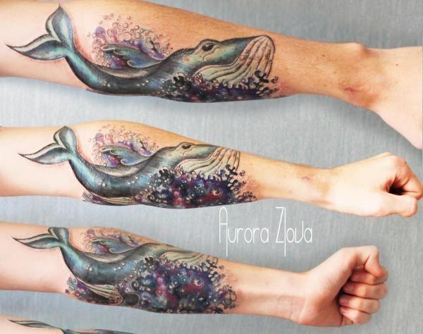 Космический кит | Татуировки, эскизы и тату-мастера России, Украины, Беларуси и из всего бывшего СССР