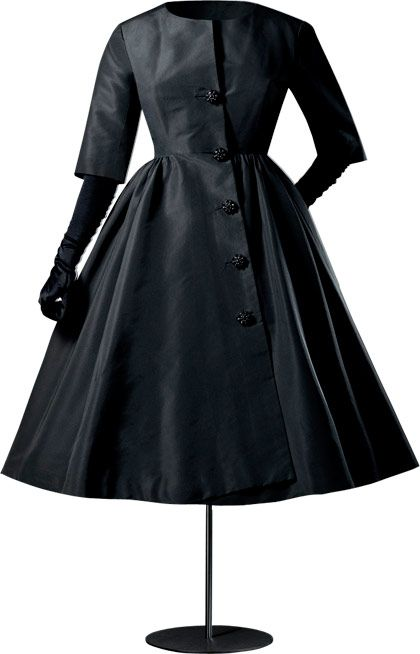 Cristobal Balenciaga   Black Cocktail Coat. 1956.  Gorgeous!!!!