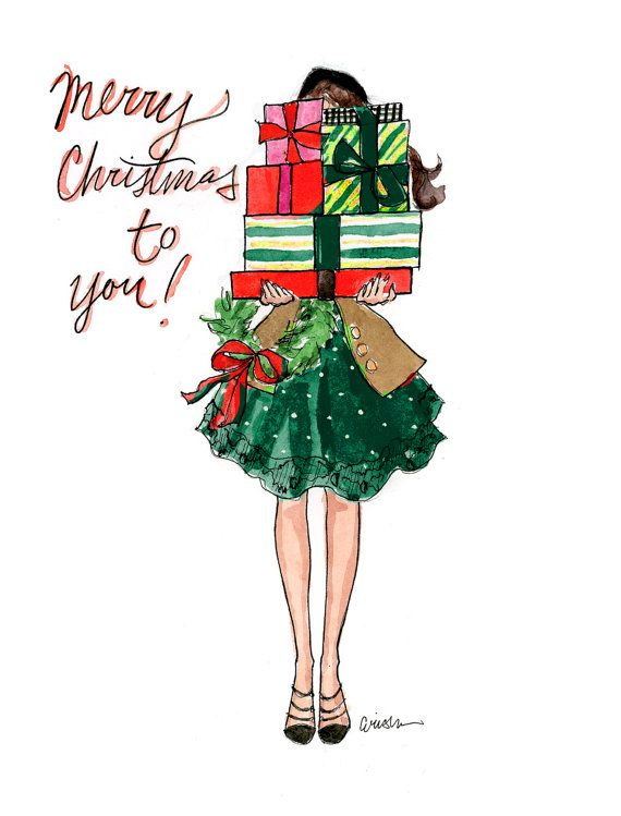 Have the most stylish Christmas cards of the season! Choose between two colors for these beautifully illustrated cards. They come in sets of 10,