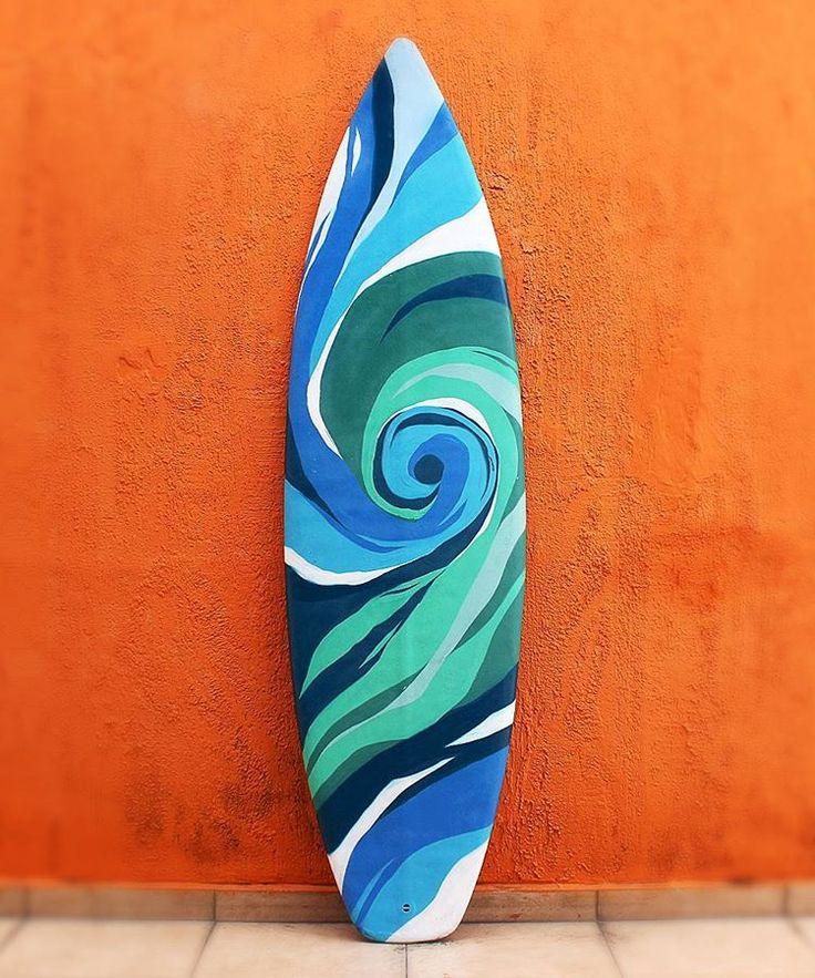 Prancha de surf customizada para decoração   #fiteart #decor #design #colors #mix #waves #sun #beach #yolo #water #sea #tbt #inspiration #art #decorhome #surf #surfing #surfer #surfboard #surfboart