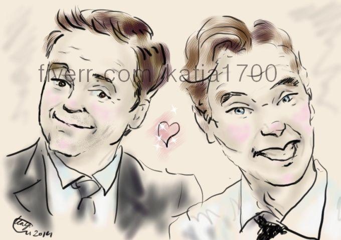 Digital sketch portraits,