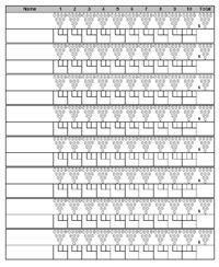 Bowling Score Sheet With Pin Template 187 Sports Bowling