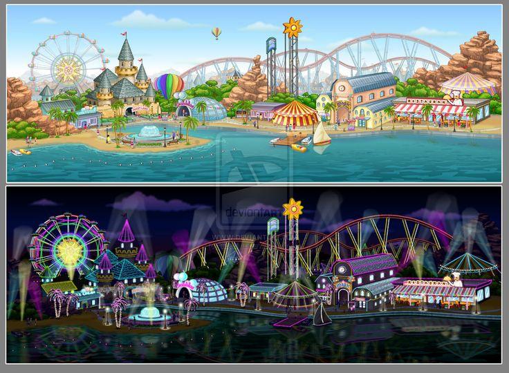 amusement park painting | Amusement Park by azazlya
