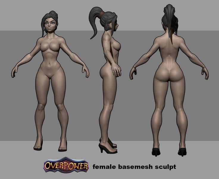 Overpower Female Basemesh Sculpt, Overpower Game on ArtStation at http://www.artstation.com/artwork/overpower-female-basemesh-sculpt