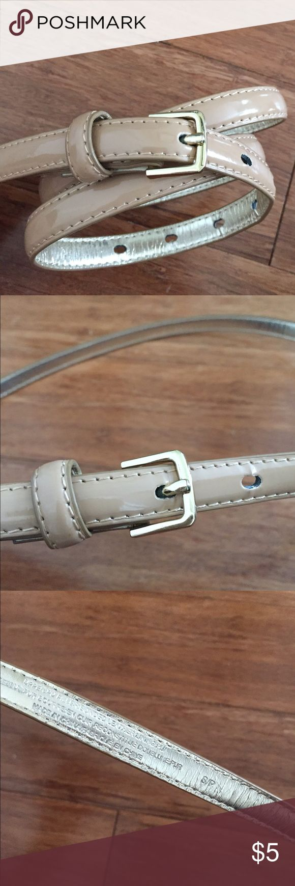 Nude Patent Leather Skinny Belt Never worn. Perfect for nearly any outfit. J. Crew Accessories Belts