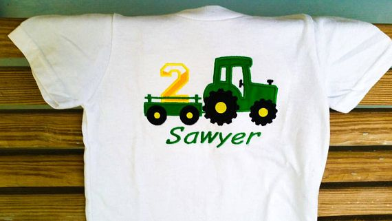 Check out Boys Tractor Shirt - Tractor Birthday - Tractor Party - Numbers 1-9 - Boys Birthday Shirt - Farmer Shirt - Farm Tractor - Embroidered Shirt on sweetbabycakesbows