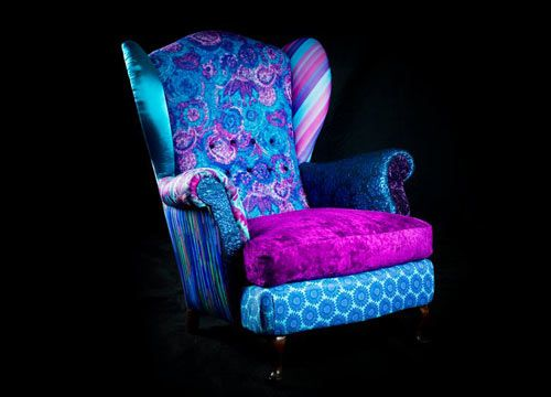 comfy Cheshire Cat-palette armchair, from the Design by Leftovers collection by Linda and Jona Netsman