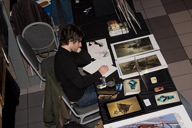 Scott Altmann sketching at IlluXCon 2.