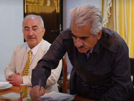 kurdish people kurdistan  Yekta Uzunoglu s předsedou Kurdské Demokratické Strany Irán panem Mustafa Hijri při obědě-2016