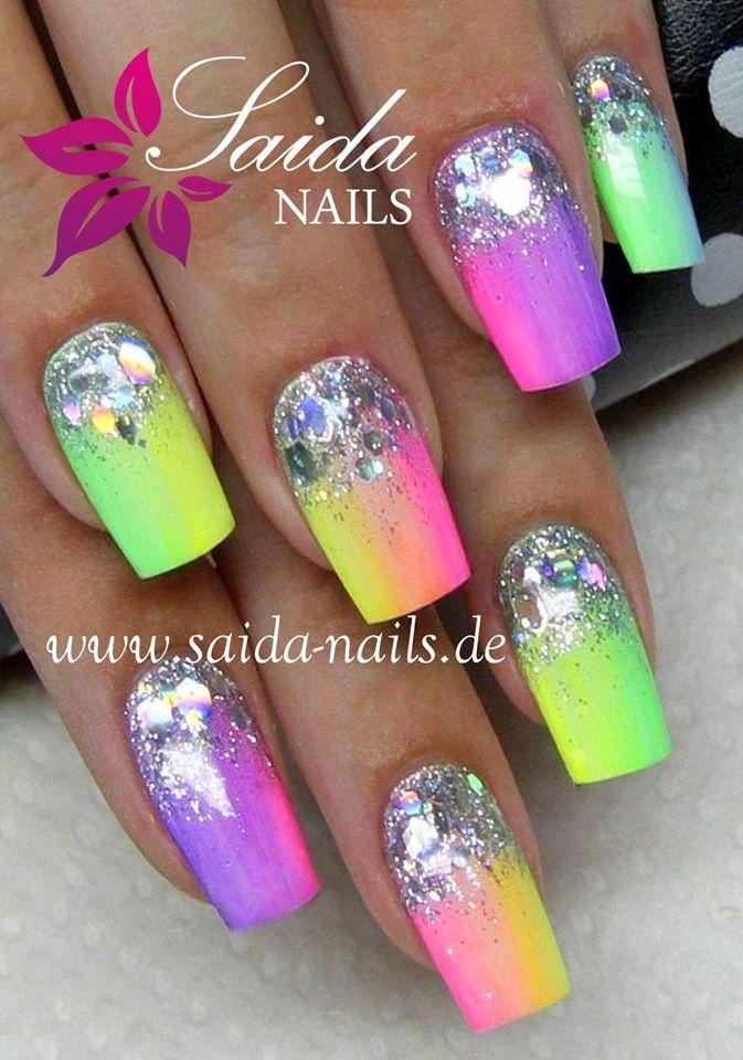 Best 25+ Neon Nails Ideas On Pinterest