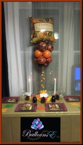 Decorating Ideas > 1000+ Images About Thanksgiving Balloon Decor On Pinterest  ~ 061918_Thanksgiving Balloon Decorations