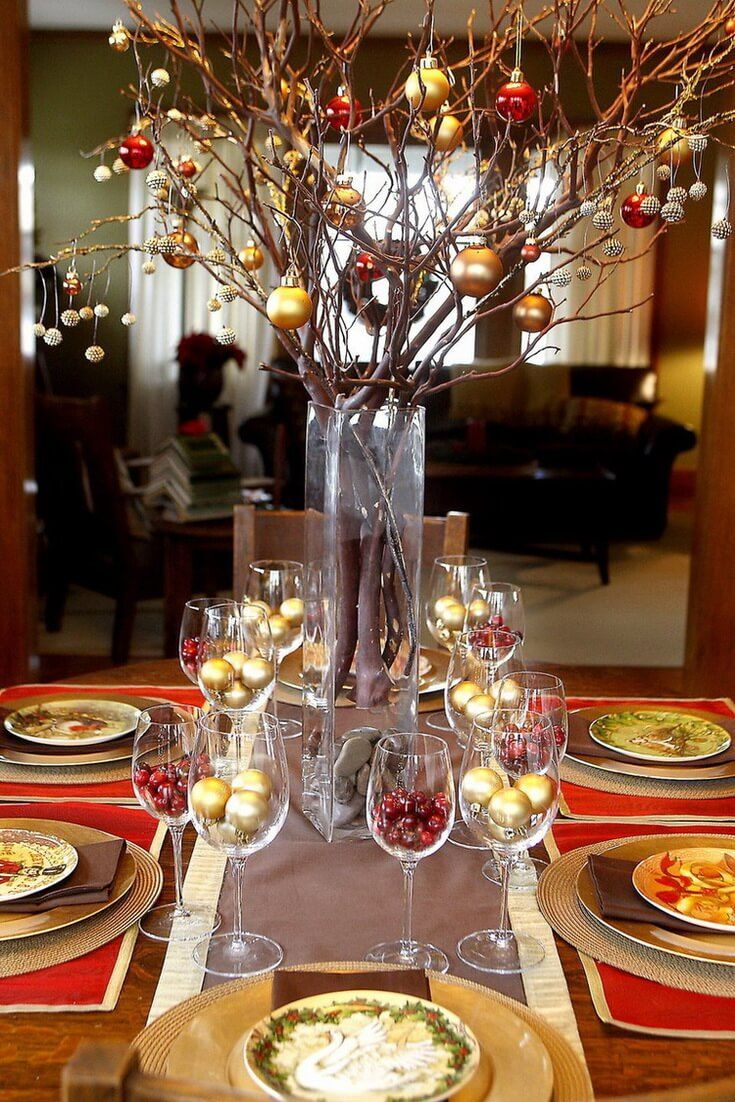 Christmas Table Decorating Ideas From Pinterest World Of Makeup And Fashion Christmas Table Centerpieces Table Centerpiece Decorations Diy Christmas Table