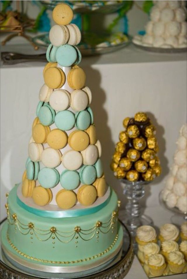 Bobette and belle macaron tower and cake base.