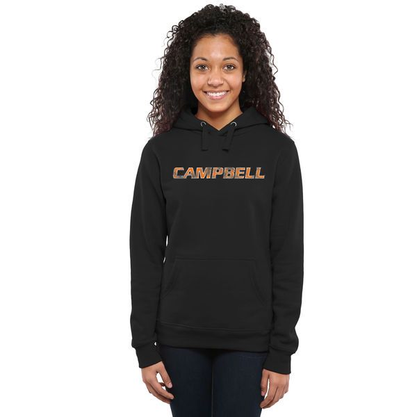 Campbell Fighting Camels Women's Classic Wordmark Pullover Hoodie - Black - $54.99