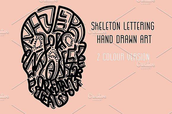 Skeleton lettering illustration by TSAPLYA on @creativemarket #lettering #typography #illustration #creativemarket #hand #drawn