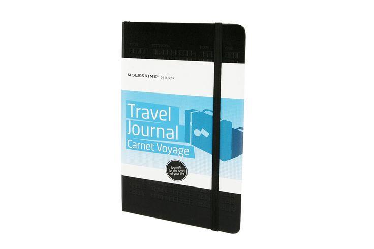 Travel Journal - Moleskine Italy  Organizza la tua passione per il viaggio     5 sezioni tematiche da compilare;   5 sezioni con tacche personalizzabili;     Checklist, calendari, informazioni per il viaggio, schede   per il budget e per programmare il viaggio, momenti memorabili e molto altro,    202 etichette adesive per personalizzare il tuo taccuino.   http://www.youtube.com/watch?v=ELNA6xh0wQ8=player_embedded