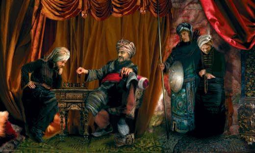 Тимур в окружении верноподданных