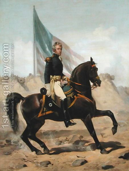 General Andrew Jackson at the Battle of New Orleans Alonzo Chappel | Oil Painting Reproduction | 1st-Art-Gallery.com