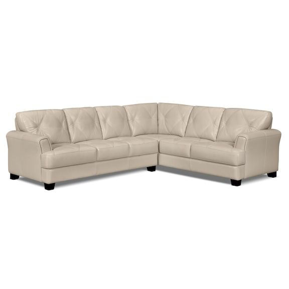 Living Room Furniture Vita 2 Piece 100 Genuine Leather Right Facing Sectional Smoke Sectional Furniture Sectional Sofa