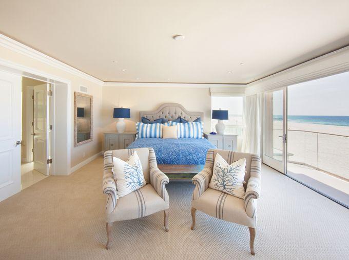 seaside bedroom | Brooke Wagner Design