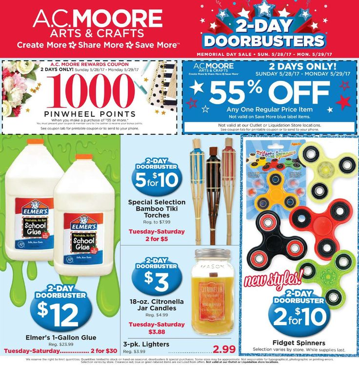 AC Moore Weekly Ad May 28 - 29, 2017 - http://www.olcatalog.com/home-garden/ac-moore-weekly-ad.html