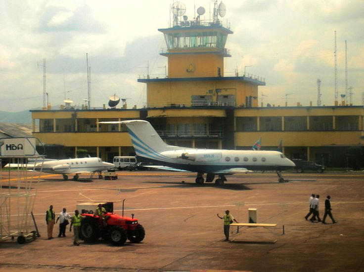 N'djili airport, also known as Kinshasa International airport, is the largest of four international airports in DR congo #Kinshasa