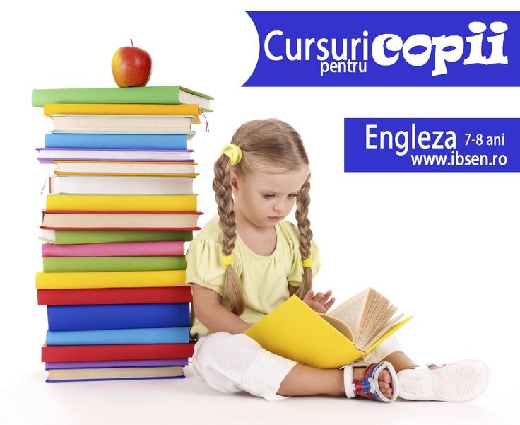 Pregătește-și copilul pentru viitor! Începem cursul de limba engleză pentru copiii de 7-8 ani, nivel începător, ce va avea loc în fiecare miercuri, de la ora 17.00 până la 18.30. Profesorii noștri au experiența lucrului cu copiii și metode speciale care să îi ajute să se concentreze.  http://ibsen.ro/news/12/65/Cursuri-pentru-copii