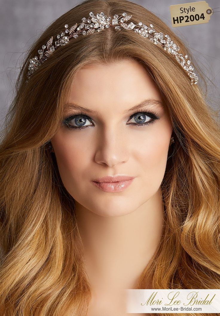 STYLE HP2004Crystal and Rhinestone Hair VineAvailable in Silver, Rose Gold