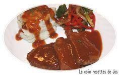 Le coin recettes de Jos: CÔTELETTES DE PORC,SAUCE SUCRÉE (MIJOTEUSE)