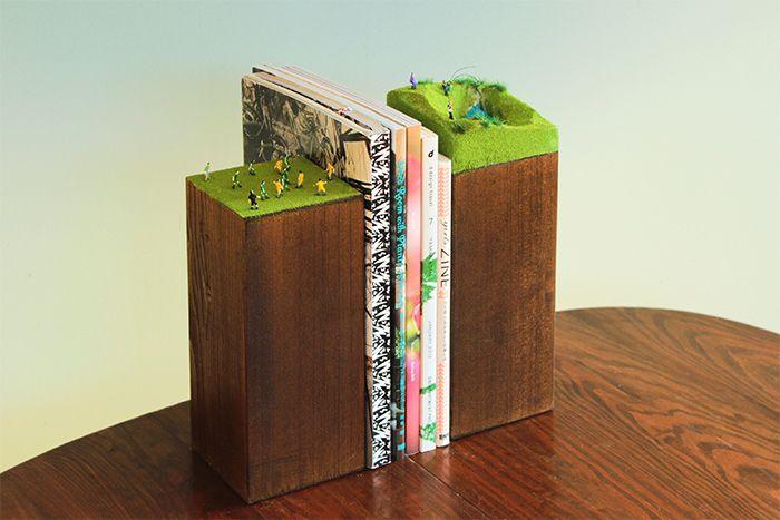 DIYer(s)×haconiwa「小さなジオラマ世界が広がるミニチュアブックエンド」をDIY!                                                                                                                                                                                 もっと見る