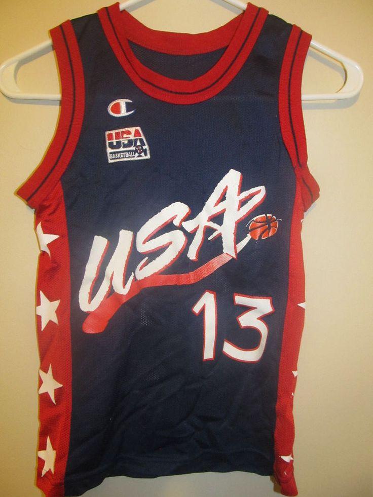 Shaquille O'Neal - Team USA jersey - Champion Youth small #Reebok #USA