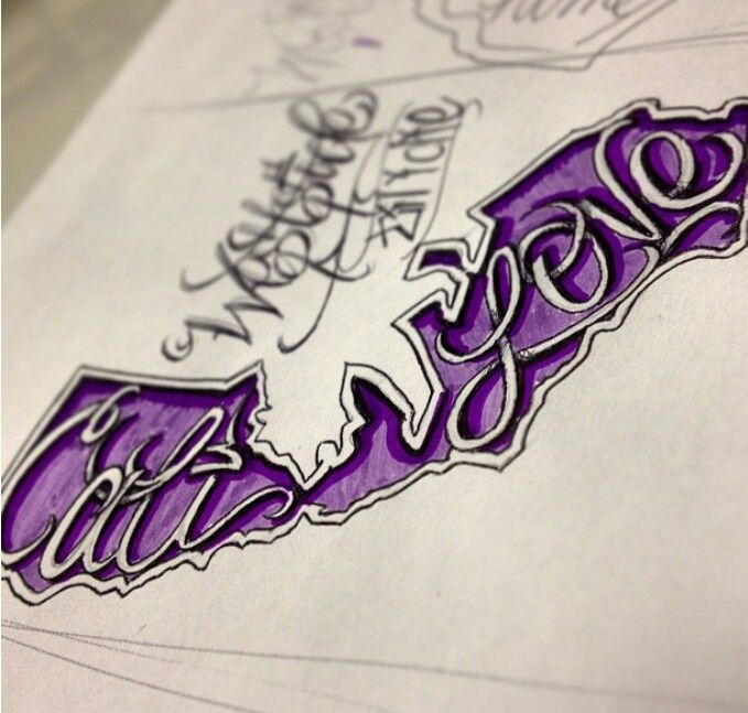 Cool cali drawing. Future tattoo idea..