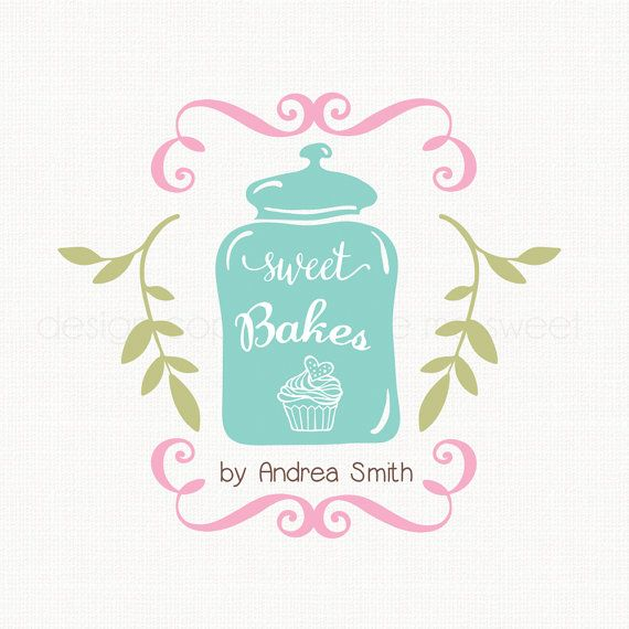 cooke jar logo bakery logo design cupcake by stylemesweetdesign