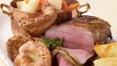 Traditional Roast Beef with Roast Potatoes