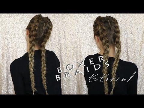 Come fare treccia olandese doppia - Boxer Braids Tutorial - YouTube