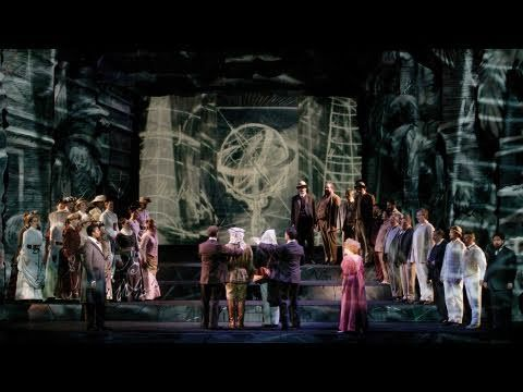 """Episode #134: In his 2005 production of Mozart's """"The Magic Flute"""" (1791), artist William Kentridge reframes the opera's original themes of Enlightenment philosophy through the bitter legacy of colonialism. """"The most toxic combination in the world is...the certainty of being right and a monopoly of power,"""" says the artist, who casts the character of Sarastro in the role of a colonial overlord, """"a benevolent figure that hides a monster."""""""