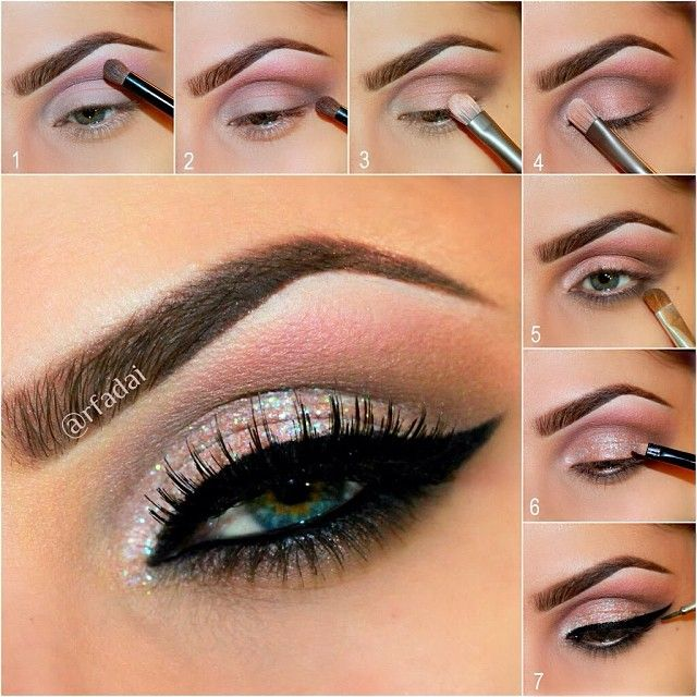Urban Decay Vice 2  APPLICATION STEPS✏️ Using @urbandecaycosmetics Vice 2 Palette eyeshadows.  1⃣ Apply glittery pink shade COAX to the upper crease.  2⃣ Apply matte brown shade REWIND to define crease and outer V.  3⃣ Apply peachy pink shade TOXIC lid.  4⃣ Apply light frosted shade DOPE to the inner corner of the eye as a highlight.  5⃣ Generously apply matte brown shade REWIND to the lower lashes line.  6⃣ Mix Sally Girl Glitter gel with Micabella Cosmetics WHITE Acrylic glitter to ...