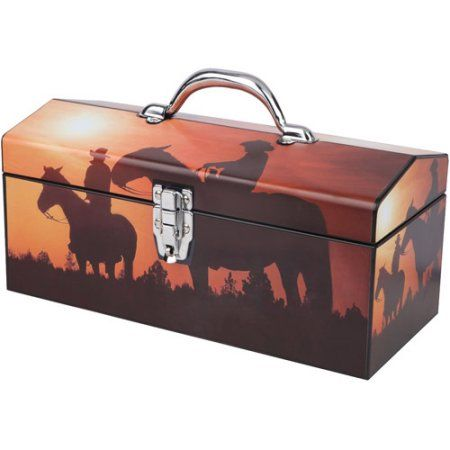 walmart tool box. sainty international home on the range 16 inch art tool box, multicolor walmart box