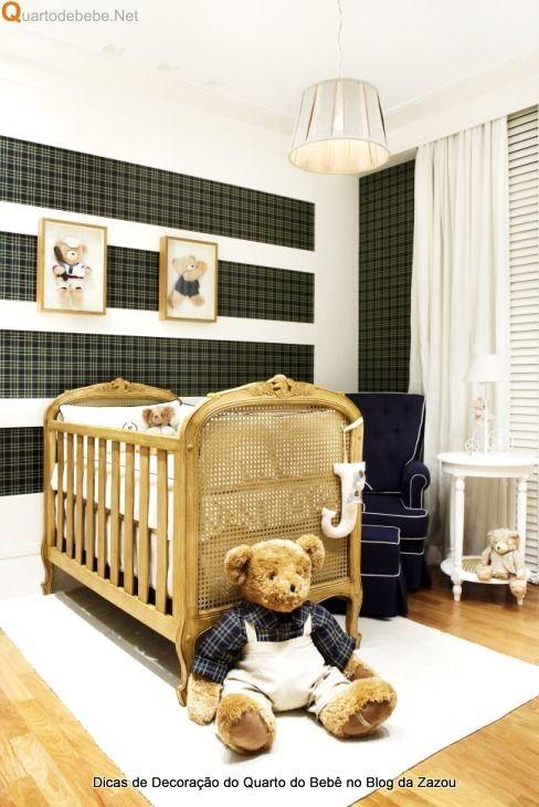 Decoração do quarto do bebê = Dicas de Quarto Requintado e Sofisticado da Quartodebebe.net no Blog da Zazou Moda Gestante