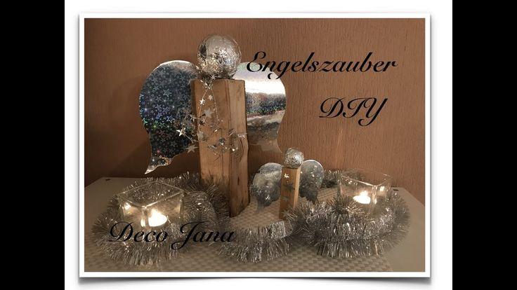 DIY: edle Holzengel / Weihnachtsengel basteln 😇 / Deco Jana - YouTube