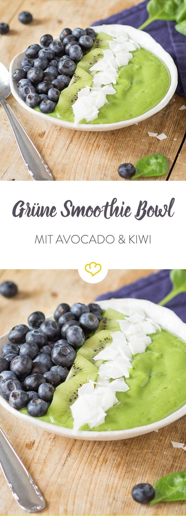 Wenn dir das Leben eine Avocado gibt, mach eine Smoothie Bowl draus. In Kombination mit Banane und Spinat ein wohlgesonnenes Sattmacher-Frühstück.