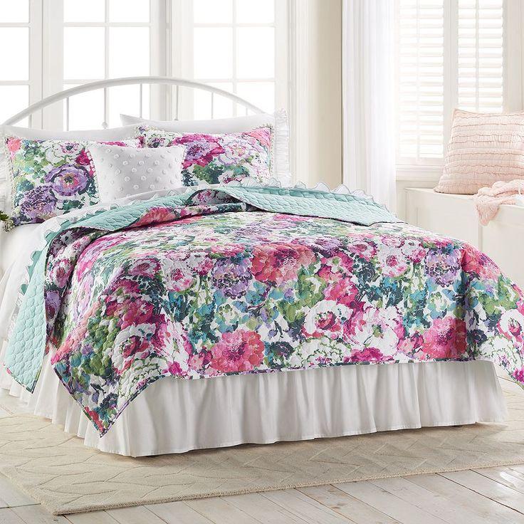 LC Lauren Conrad Watercolor Garden Quilt