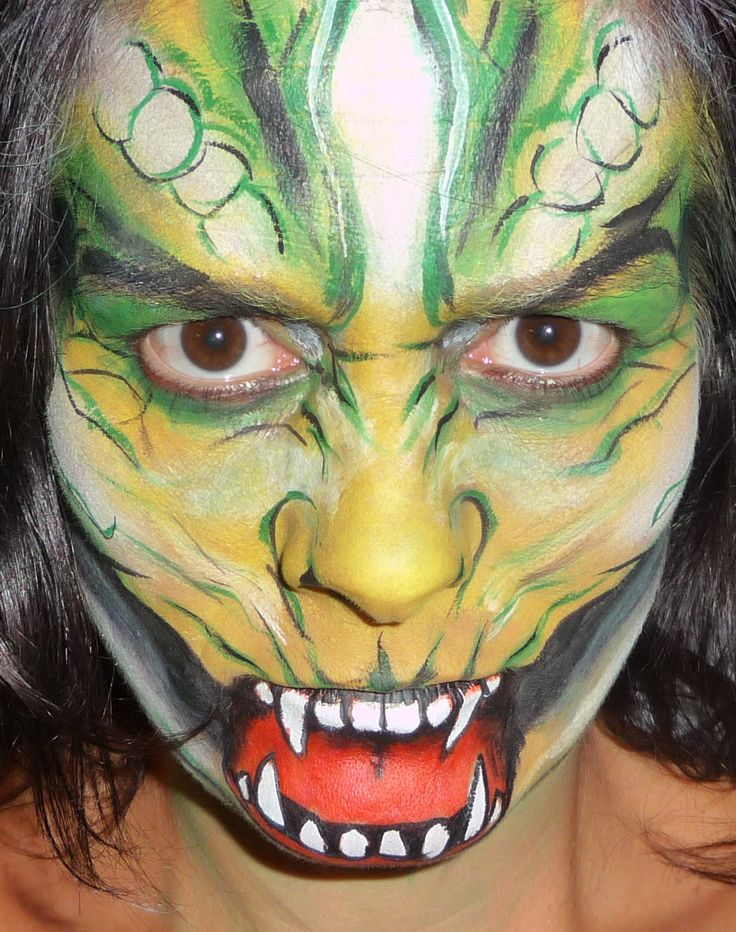 Petra Dohmen | Make-up Artists; draak / dragon grime