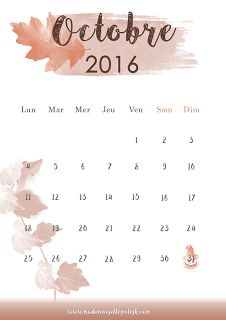 25 best ideas about calendrier octobre 2016 on pinterest calendrier octobre sizzix and - Calendrier lune octobre 2017 ...