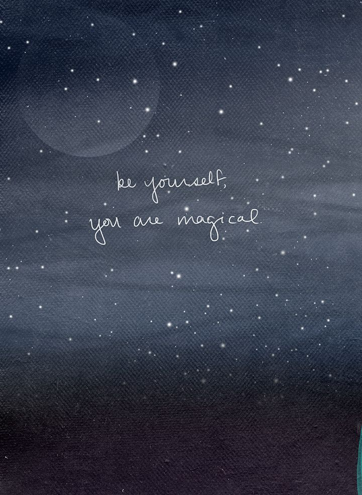 Sketch of the day 'Be Yourself you are Magical' Art by Esther Sanchez