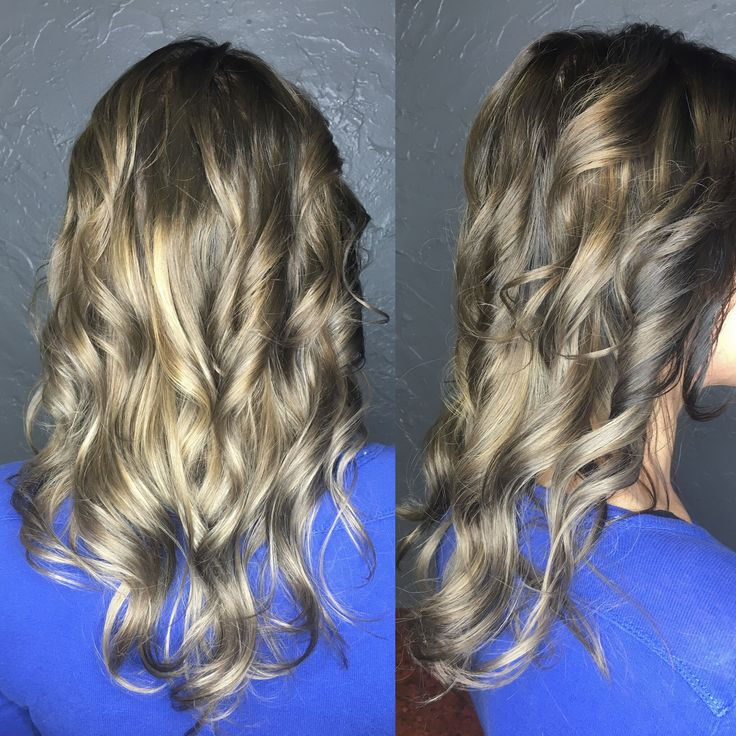 Reverse balayage to darken up this natural blonde done at Hairplay salon AK
