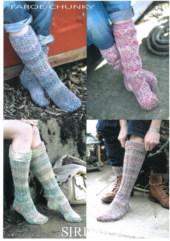 Socks in Sirdar Faroe Chunky | Black Sheep Wools