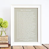 'What Is A Marriage?' Framed Poem Print