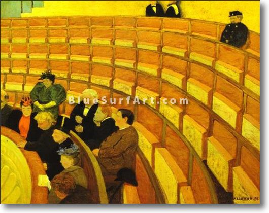 The Third Gallery at the Theatre du Chalet/Troisi?me Galerie au - £124.99 : Canvas Art, Oil Painting Reproduction, Art Commission, Pop Art, Canvas Painting